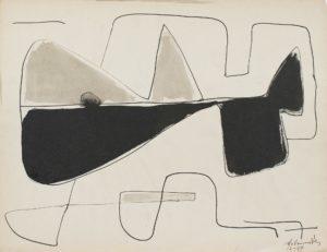 gerard schneider - 1949 sans titre papier encre