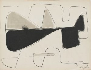 gerard schneider - 1949 untitled paper ink