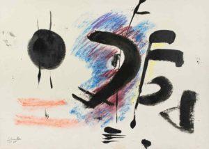 gerard schneider - 1950 sans titre encre de chine