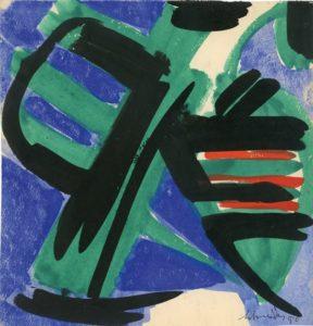 gerard schneider - 1950 sans titre gouache