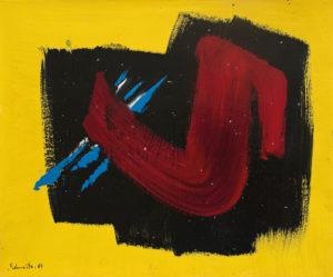 gerard schneider - 1967 papier sans titre acrylique
