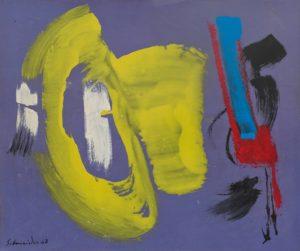 gerard schneider - 1968 acrylic paper untitled