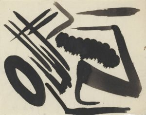 gerard schneider - encre de chine sans titre 1948