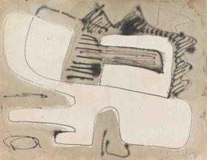 gerard schneider - encre de chine sans titre papier 1949