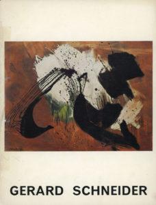 gerard schneider - exposition retrospective bruxelles 1962