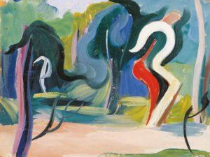 gerard schneider - figures dans un jardin huile 1934