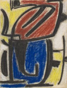 gerard schneider - fusain pastel papier sans titre c 1949 newsletter art vient a vous 12