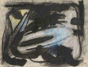 gerard schneider - fusain sans titre 1949