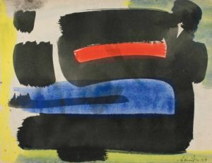 gerard schneider - gouache paper untitled 1949