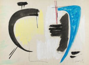 gerard schneider - gouache paper untitled 1952 newsletter art comes to you 12