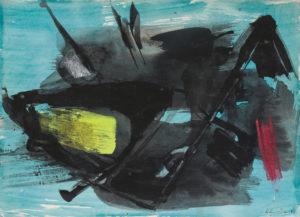 gerard schneider - gouache sans titre 1964