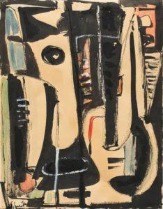 gerard schneider - gouache untitled 1946