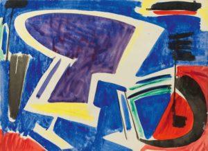 gerard schneider - gouache untitled 1951
