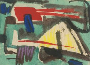 gerard schneider - gouache untitled ink 1954