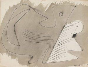 gerard schneider - india ink paper untitled 1949