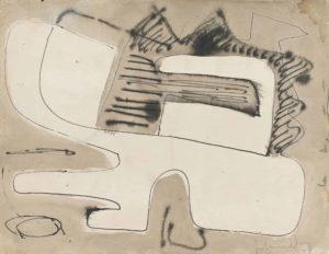 gerard schneider - india ink untitled paper 1949