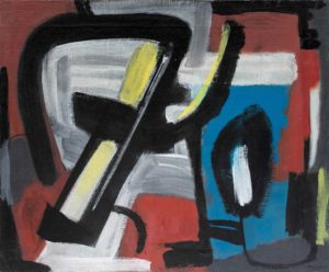 gerard schneider - opus 428 1949 painting