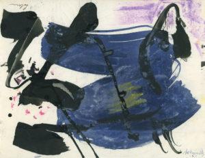 gerard schneider - papier gouache encre de chine sans titre 1961