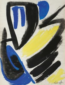 gerard schneider - papier gouache sans titre 1949