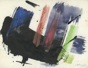 gerard schneider - papier gouache sans titre 1961