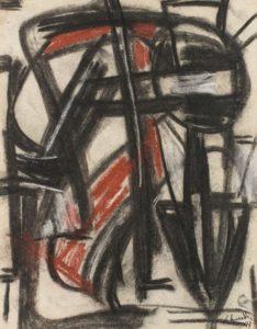 gerard schneider - sans titre 1947 fusain pastel