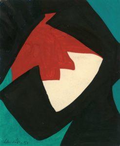 gerard schneider - sans titre 1951 papier