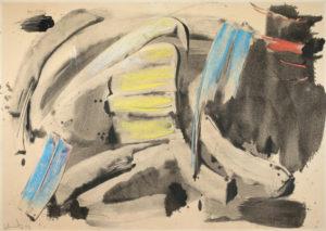 gerard schneider - sans titre 1959 papier newsletter art vient a vous 12