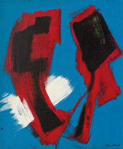 gerard schneider - sans titre acrylique carton 1967