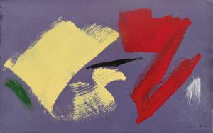 gerard schneider - sans titre acrylique huile 1968