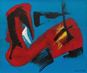 gerard schneider - sans titre acrylique huile papier 1967