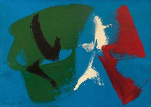 gerard schneider - opus 30 i acrylique huile papier 1968