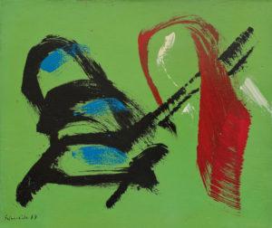 gerard schneider - sans titre acrylique papier 1967