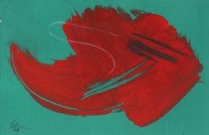 gerard schneider - sans titre acrylique pastel 1968