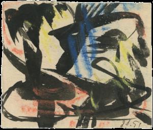 gerard schneider - sans titre ca 1951 papier pastel