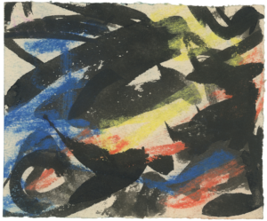 gerard schneider - sans titre ca 1951 pastel papier