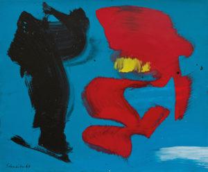 gerard schneider - sans titre carton acrylique 1967