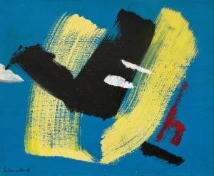 gerard schneider - sans titre carton acrylique 1968