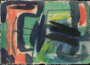 gerard schneider - sans titre encre 1954