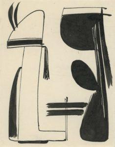 gerard schneider - sans titre encre de chine 1948
