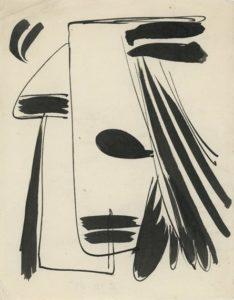 gerard schneider - sans titre encre de chine papier 1948