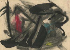 gerard schneider - sans titre encre pastel 51