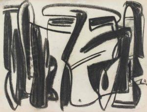 gerard schneider - sans titre fusain 1948
