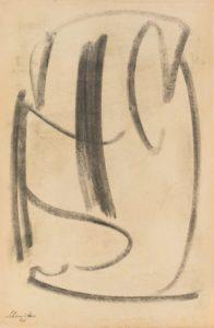 gerard schneider - sans titre fusain papier 1946