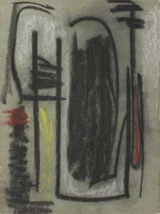 gerard schneider - sans titre fusain papier 1947