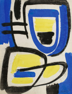gerard schneider - sans titre gouache 1949 newsletter art vient a vous 12