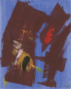 gerard schneider - sans titre gouache 1968