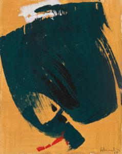 gerard schneider - sans titre gouache papier 1967