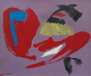 gerard schneider - sans titre papier acrylique 1967