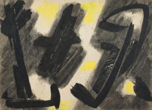gerard schneider - sans titre papier fusain 1946