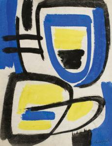 gerard schneider - sans titre papier gouache 1949